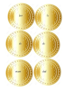 Sight Word Coins