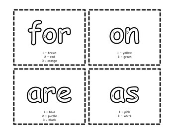 Sight Word Color By Number {Homework, Centers, or Morning Work}