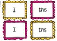Sight Word Color Match Mats - 15 Total Mats