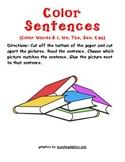 Sight Word Color Sentences