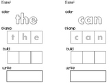 Sight Word -Color Stamp Build Write
