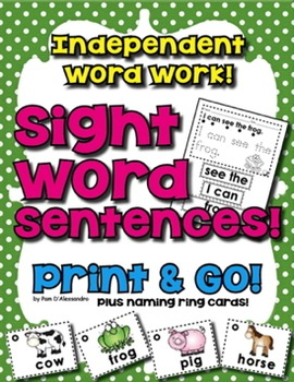 Sight Word Sentences - Read It! Build It! Write It! 120 Sentences