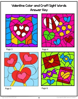 Sight Word Color and Craft Activity