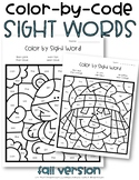 Sight Word Color by Code Fall
