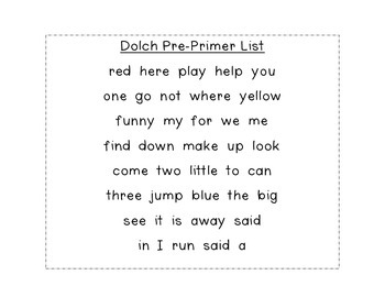 Sight Word Color by Number{NO PREP} Set #1