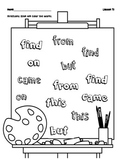 Sight Word Coloring 2
