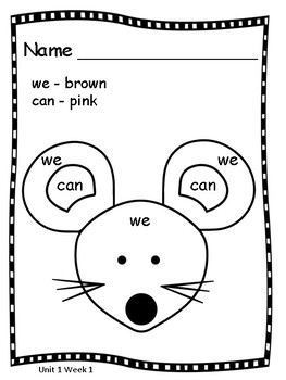 Sight Word Coloring Pages by SS Penmanship   Teachers Pay ...