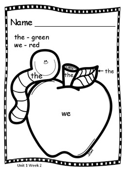 Sight Word Coloring Pages by SS Penmanship | Teachers Pay ...