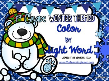 Sight Word Coloring Pages Packet First Grade Winter Themed Tpt