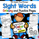 Sight Word Coloring Pages, Practice Pages, and Flashcards {Pre-Primer}