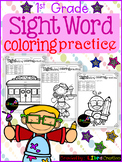 Sight Word Coloring Practice 1st Grade