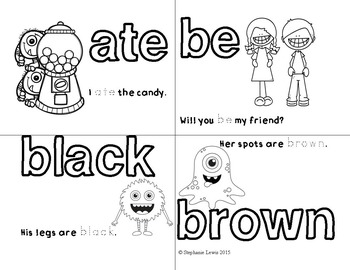 Sight Word Coloring & Sight Word Sentence Sheets | Dolch Primer Words