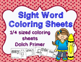 Sight Word Coloring & Sight Word Sentence Sheets | Dolch P