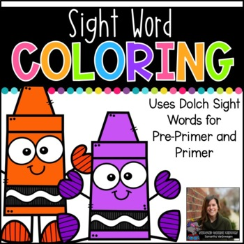 Sight Word Coloring (Pre-Primer and Primer Dolch Sight Words)