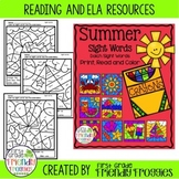 Sight Word Coloring Sheets for End of the Year and Summer