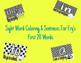Sight Word Coloring With Sentences