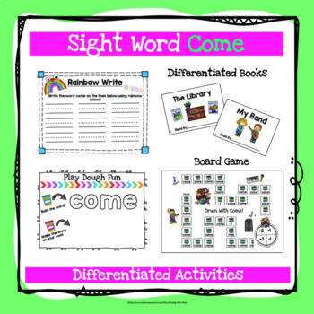 Sight Word Come Activities