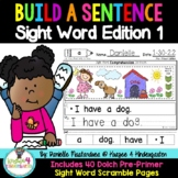 Build a Sentence- Sight Word Edition {Sentence Scrambles 1}