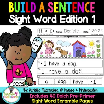 Sight Word Comprehension Sentences {DOLCH Pre-Primer}