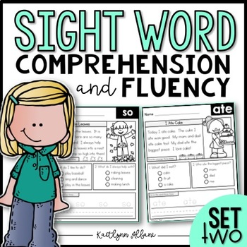 Sight Word Comprehension and Fluency Practice - SET 2