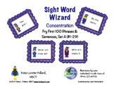 Sight Word Game: Concentration (Fry First 100 Phrases Set A)