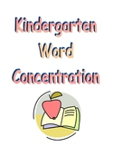 Sight Word Concentration