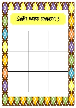 Sight Word Connect 3