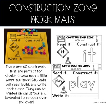 Sight Word Construction (Hands-On, STEM, Low-Prep): Dolch Pre-Primer