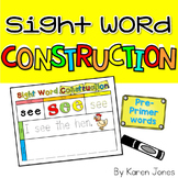 Sight Word Construction Mats {Dolch Pre-Primer Words}