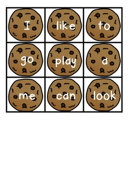Sight Word Cookie Monster