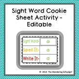 Sight Word Cookie Sheet Activity - Editable