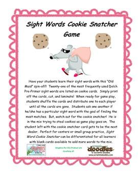 Sight Word Cookie Snatcher