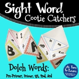 Sight Word Cootie Catchers for Kindergarten, 1st, 2nd, and 3rd Grade!