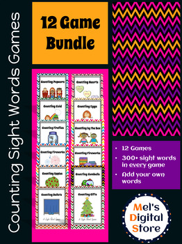 Sight Word Counting Card Games {12 Game Bundle}