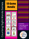 Counting Sight Word Games - 12 Game Bundle {Mel's Digital Store}