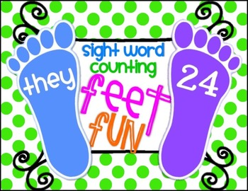 Sight Word and Counting Feet Fun