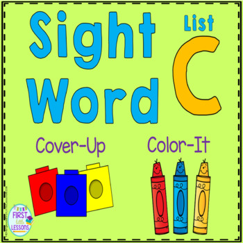 Sight Word Cover-Up or Color-It Game List C