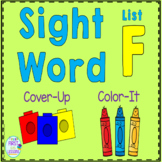 Sight Word Cover-Up or Color-It Game List F