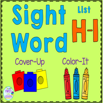 Sight Word Cover-Up or Color-It Game List H and I