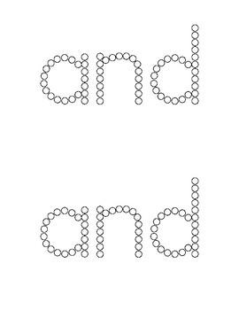 Sight Word Craft Activity - Q-Tip Paint - (Pre-Primer, Pre-K Words)