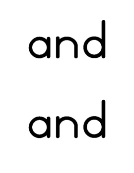 Sight Word Craft & Learning Activity - Solid Lines - (Pre-Primer, Pre-K Words)