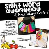Sight Word Craftivity and Vocabulary Center