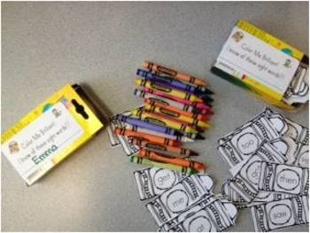 Sight Word Crayons - Color Me Brilliant!