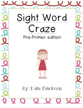 Sight Word Craze: Pre-Primer Edition