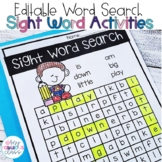 Sight Word Cross Word Puzzles