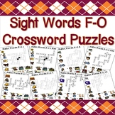 Sight Word Crossword Puzzles (F-O Nouns)