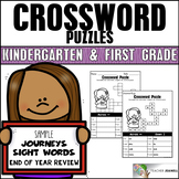 Sight Word Crossword Puzzles FREE (Aligned to Journeys Kin
