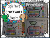 Sight Word Crossword Puzzles {Freebie}