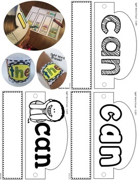 Sight Word Worksheets Headband Crowns, Necklaces and Bracelets