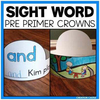 Sight Word Crowns - Pre-Primer